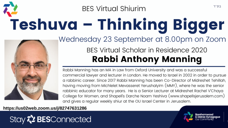 Teshuva - Thinking Bigger with Rabbi Anthony Manning